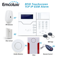 Cyprus Security Alarm System with Anti pet Motion Detector Smoke Sensor and Outdoor Waterproof Flash Siren