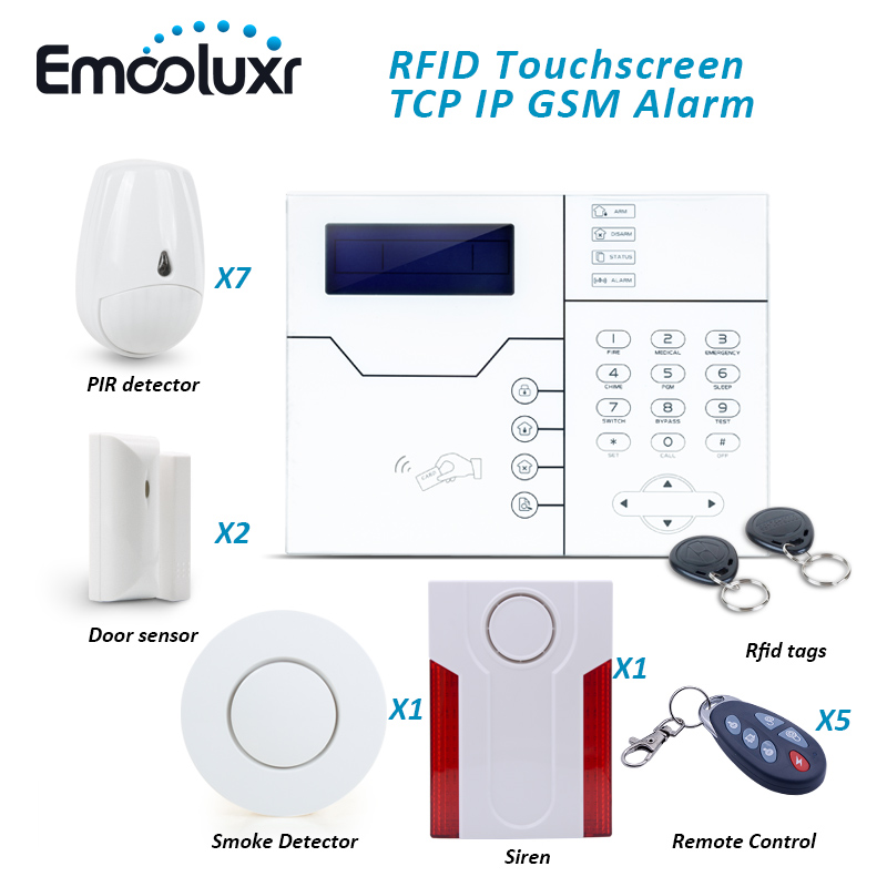 Cyprus Security Alarm System with Anti-pet Motion Detector Smoke Sensor and Outdoor Wate ...