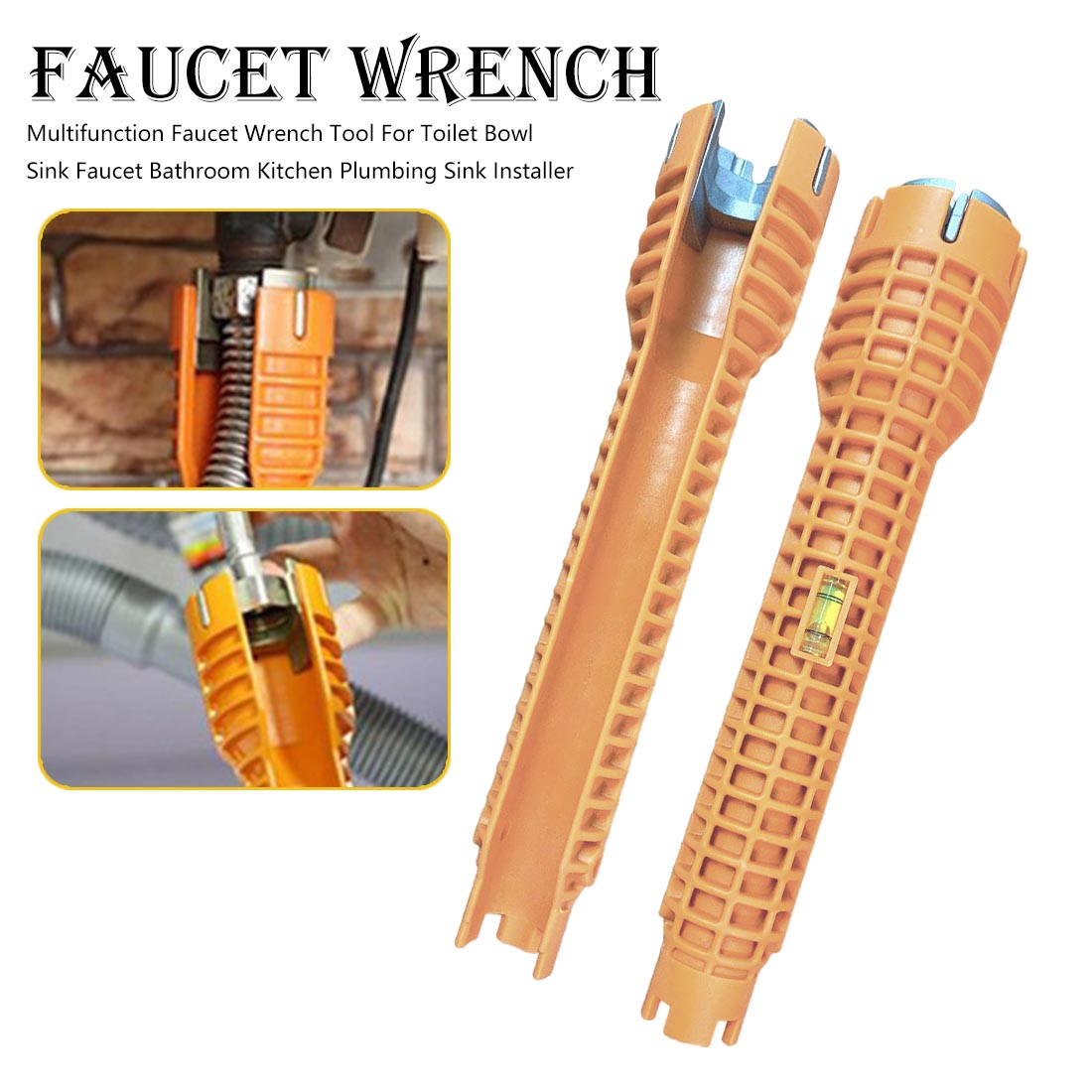 Faucet and Sink Installer Multifunctional Wrench Tool for For Toilet Bathroom Kitchen Sink Faucet Basin Pipe Nut Plumbing Tool