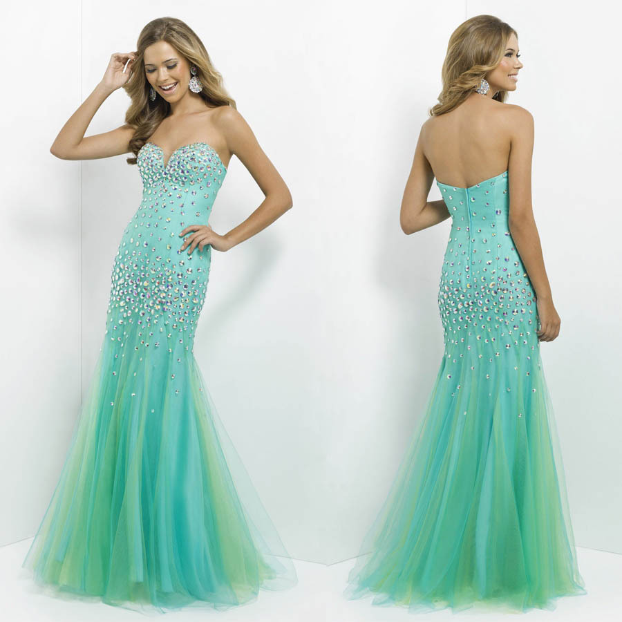 Fancy Mint Green Long Prom Dresses Pattern - Wedding Dress Ideas ...