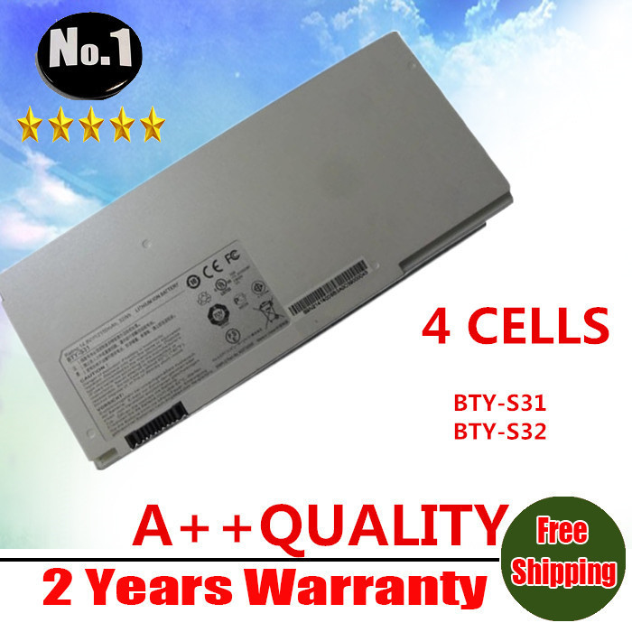 WHOLESALE original laptop battery For MSI 13 X-Slim X320-007CA X340 021US X340 023US X340-200 BTY-S31 BTY-S32 FREE SHIPPING