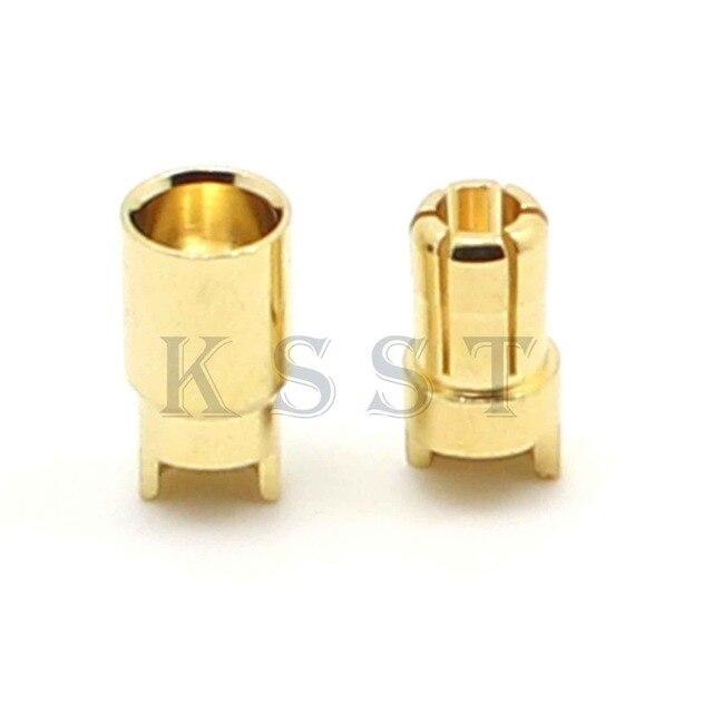 Conector de bala chapado en oro GC6010 10 pares 6,0mm 6mm para enchufe ESC de batería RC