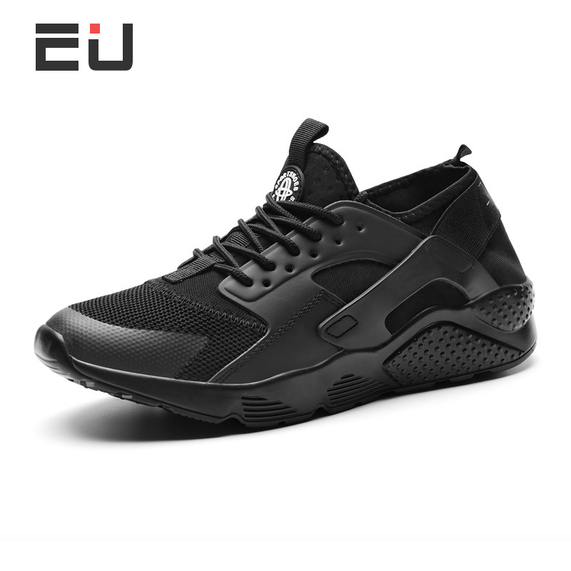 2018 New Arrival Black Running Shoes Men Comfortable Breathable Sneakers for Male Outdoor Exercise Sports Shoes Men