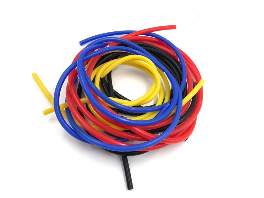 Universal 1m Blue/Red Universal 3mm/4mm/6mm/8mm Auto Car Vacuum Silicone Hose Racing Line Pipe Tube Car-styling