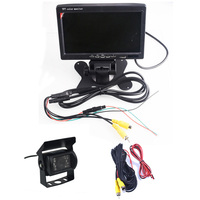 DC 12 24V Bus Truck Parking Camera Monitor Assistance System HD 7 Inch Car Monitors With Rear View Camera RCA Video Cable