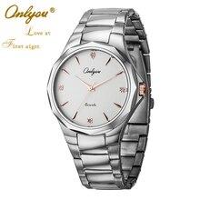 ONLYOU Luxury Brand Business Quartz Watch Tungsten Steel Lovers Watches Women Men Ladies Dress Wrist Watches Clock 8826