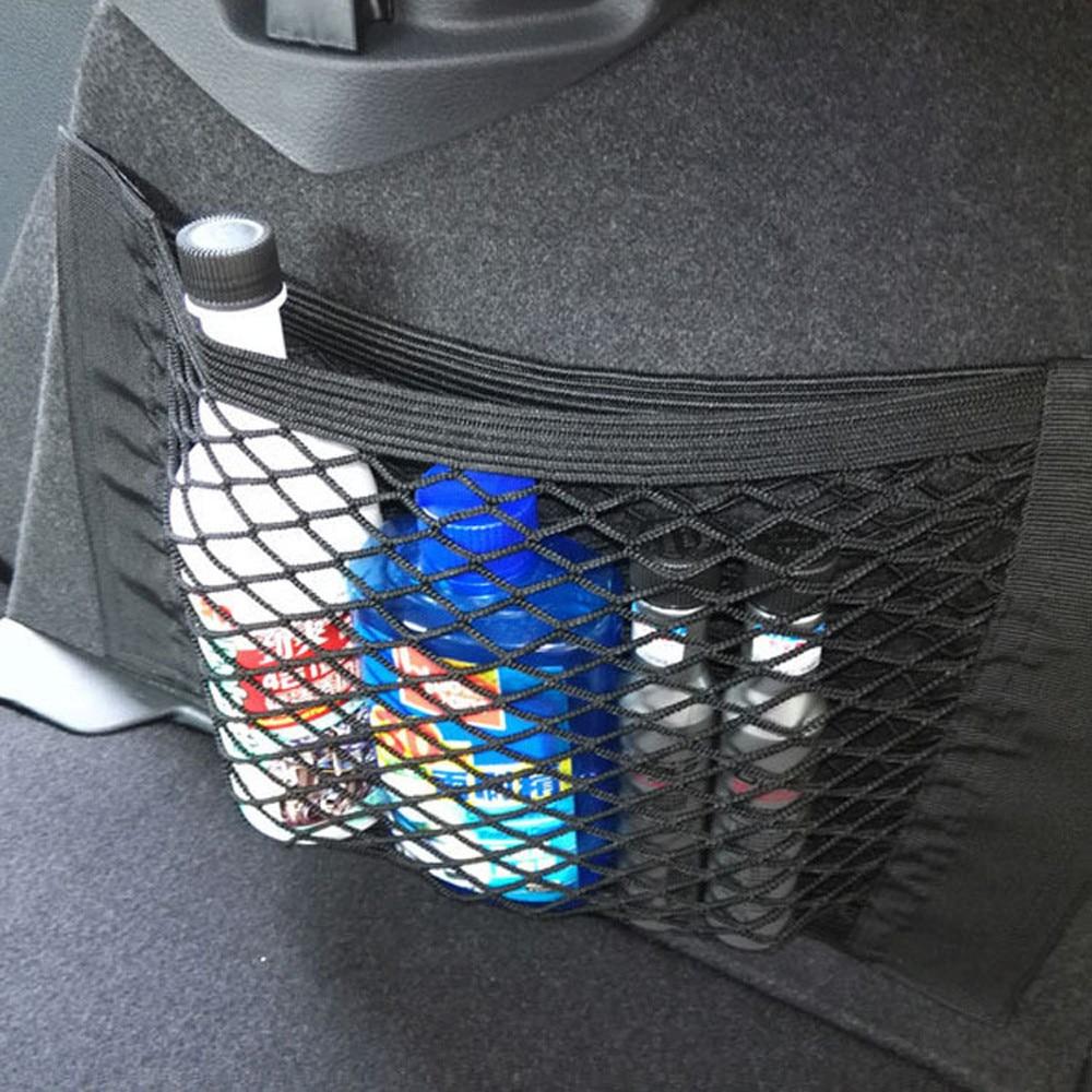 Details about  /Car Rear Trunk Back Seat Elastic String Net Mesh Storage Bag Pocket Cage Black