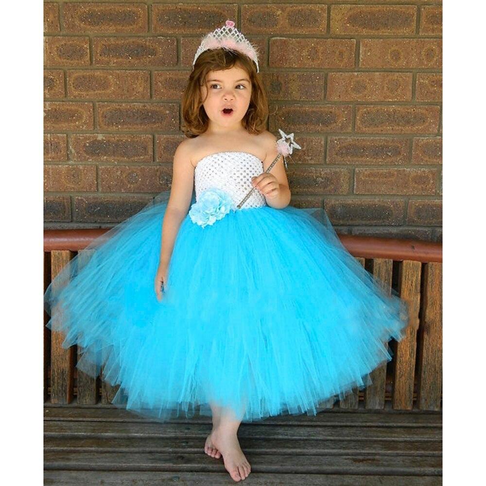 Aqua blue Tutu Dress white and Blue Birthday Kids Dress For Girls ...
