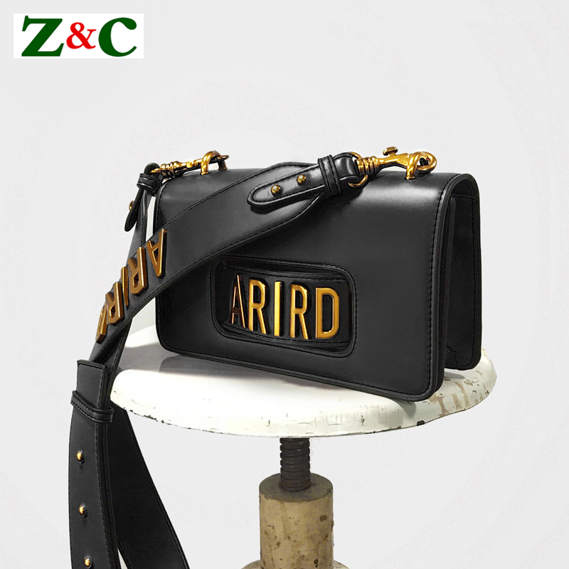 Brand ARIRD Designer Women Flap Messenger Bag Fashion Shoulder Bag Wide Shoulder Strap Chic Female Crossbody Bag Black/Red/White chic women s red spaghetti strap crop top