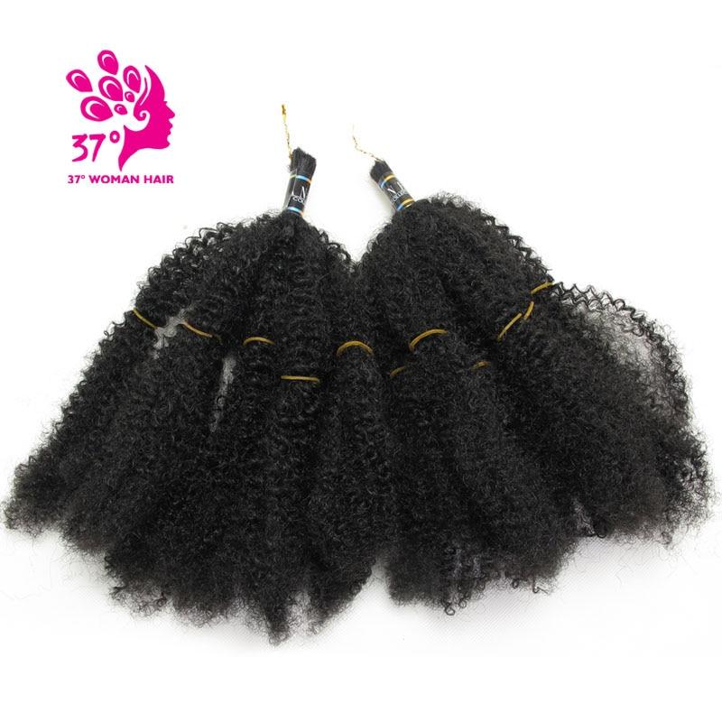 Dream ice's 2X Afro Kinky Bulk Hair Synthetic Hair Extensions Crochet Braiding Twist Hair 1B 100g/pack