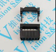 "50 Pcs 0.1"" 2.54mm Pitch FC- 6/8/10/12/14/16/18/20/24/26/30/34/40 Pin Female IDC Socket Plug Ribbon Cable Connector(China)"