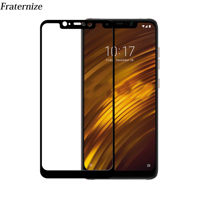 50Pcs Tempered Glass For Xiaomi Pocophone F1 Full Cover Screen Protector Toughened Film For Xiaomi Poco