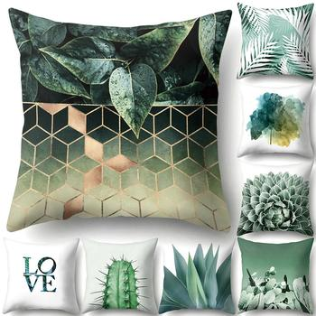 Summer Leaves Cactus Flamingo Pillow Case Cushion Cover Sofa Bed Car Decor image