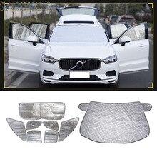 Car Styling Accessories 8pcs For Volvo Xc60 2018 2019 Window Sun Shade Auto Visor