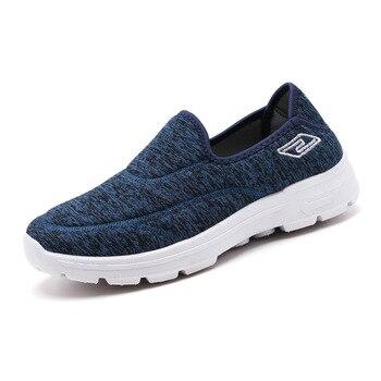 632ceb5a Zapatillas deportivas de hombre resistentes al aire y al desgaste para  caminar zapatos para hombre nuevas zapatillas de hombre plano de la  primavera de 2019