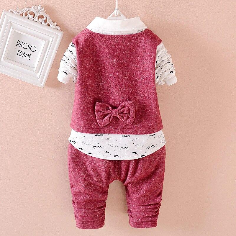 2017 новый комплект детской весенней одежды из 3 предметов комплекты одежды для мальчиков жилетка рубашка штаны комплект одежды для маленьки...