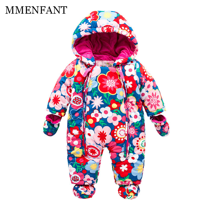 1pcs Retail Baby Girls Clothes Set fashion Flowers printing Long Sleeve Rompers winter Infantil bebes Newborn boys Clothing 2017 baby boys girls long sleeve winter rompers thicken warm baby winter clothes roupa infantil boys girls outfits cc456 cgr1