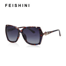 FEISHINI Fox Appearance Design Butterfly Plastic Sunglasses Women Polarized Retro UV400 Fashion Driving Eyewear Mujer Glasses