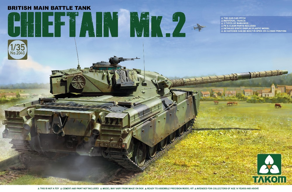TAKOM 1/35 British Main Battle Tank Chieftain Mk.2 Tank #TAK-2040 (No.2040)