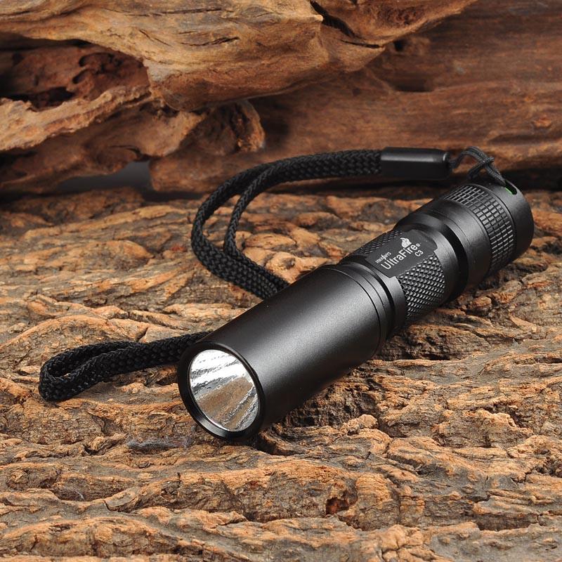UltraFire MTT-33 Mini C3 405nm 1-LED Textured Purple Light Flashlight - Black (1 x AA) ultrafire bd0052 2w 9 led 405nm purple flashlight black 3 x aaa