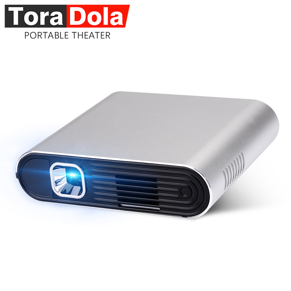 TORA dole PH20, projecteur DLP tactile Android 7.0 WIFI, Bluetooth, batterie 5400 mAH, HD in, home cinéma Portable, TV LED