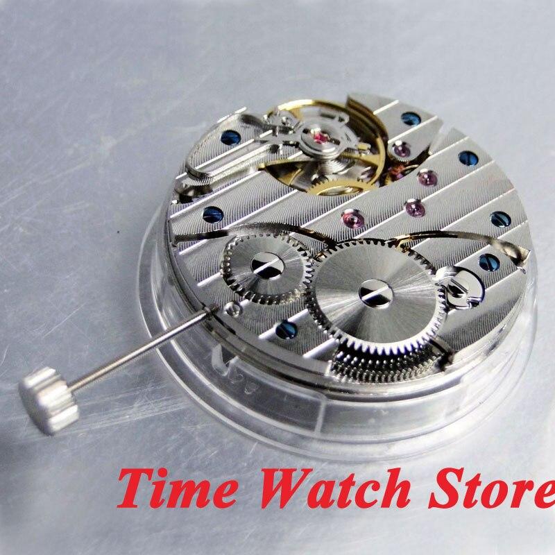Parnis 17 klejnotów łabędź szyja mechaniczny 6497 ręcznie nakręcany ruch pasuje zegarek męski M1 w Tarcze do zegarków od Zegarki na  Grupa 2