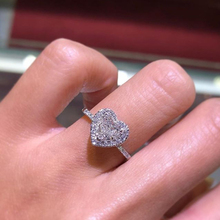 HOMOD 2019 New Fashion Crystal Heart Shaped Wedding Rings Womens Zircon Engagement Glamour Jewelry Dropshopping