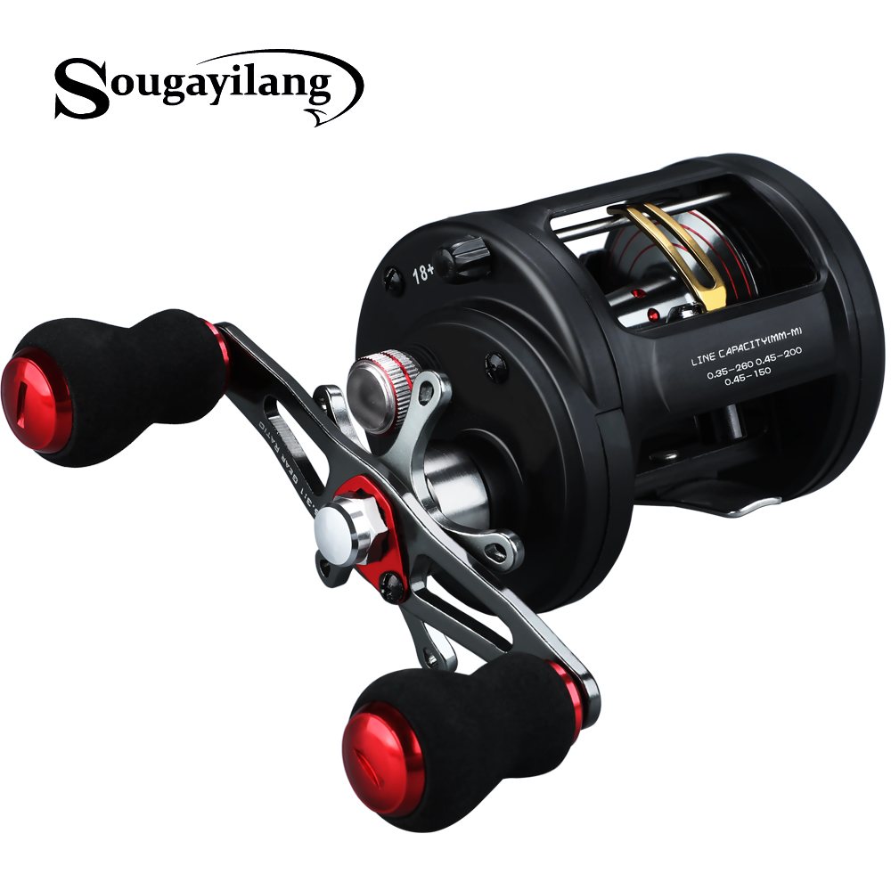 Sougayilang 18 1BB 6.3: 1 moulinet de pêche à la traîne à droite/à gauche bobine de moulinet de pêche à la traîne en eau salée Pesca