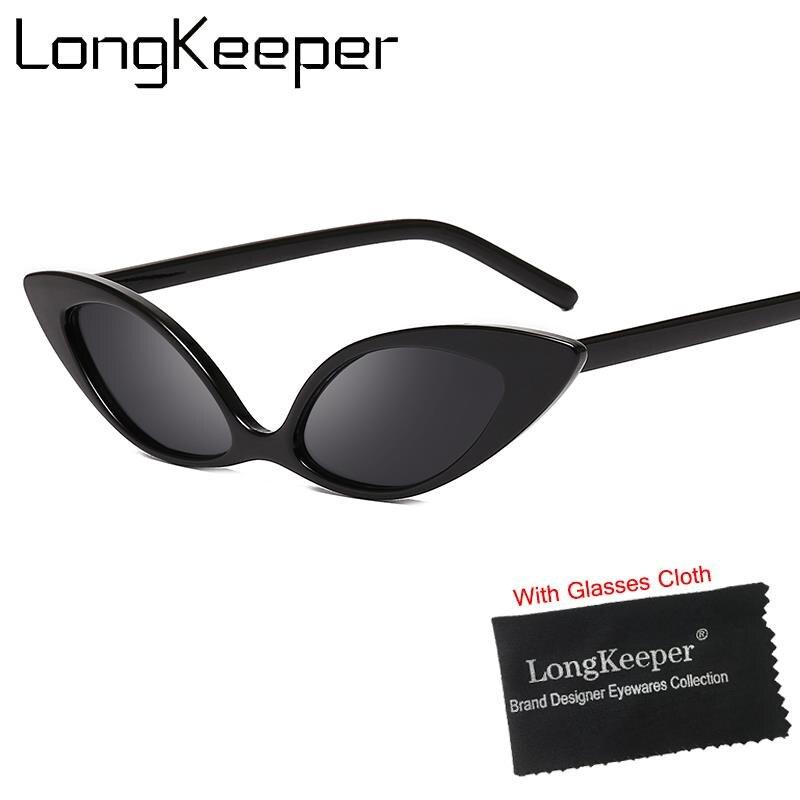 LongKeeper Women Cat Eye Sunglasses Vintage Small Sun Glasses Female Eyeglasses Eyewear Shade UV400 Fashion Travel Driving
