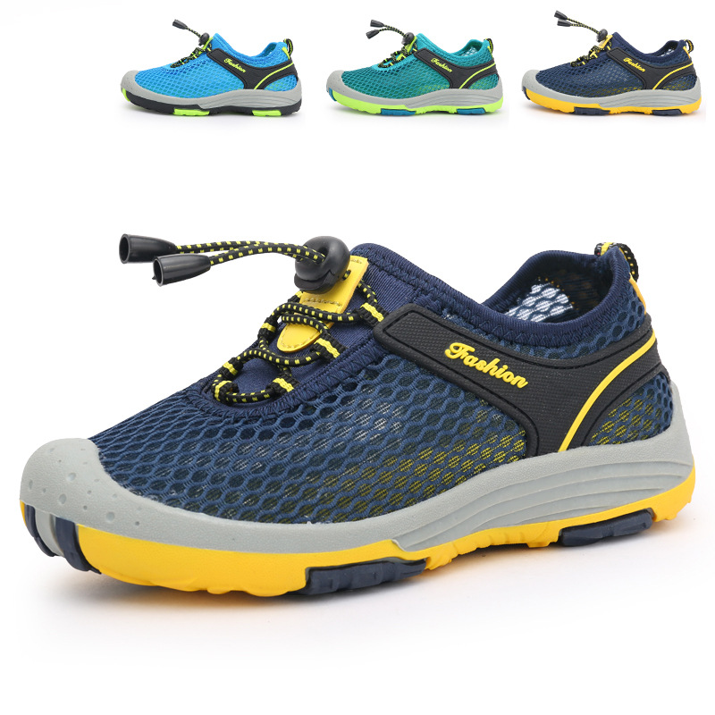 Size 28-40 Children Mesh Shoes Boys Girls Spring Summer Breathable Fashion Sneakers Outdoor Running Walking Sport Shoes Trainers