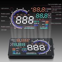 자동차 속도 프로젝터 앞 유리 OBD2 디지털 자동차 속도계 자동 HUD 헤드 최대 디스플레이 과속 알람 안전 운전 액세서리