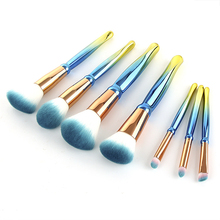 New Makeup Brushes Set 7PCS Rhombic handle Foundation Blending Powder Eyeshadow Concealer Brush Kit Cosmetic Beauty Make Up Tool pro fan brush 7pcs bamboo handle makeup eyeshadow blush concealer brushes set powder foundation facial multifunction beauty tool