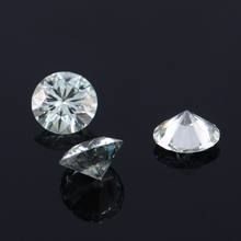 TransGems 1 Piece 6.5mm Slight Blue Moissanite Loose Stone Equivalent Diamond Weight 1ct for Jewelry Making