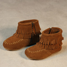 Hot sale kids boots girls boots fashion tassel toddler girl boots kids comfortable leather kids boots girls shoes