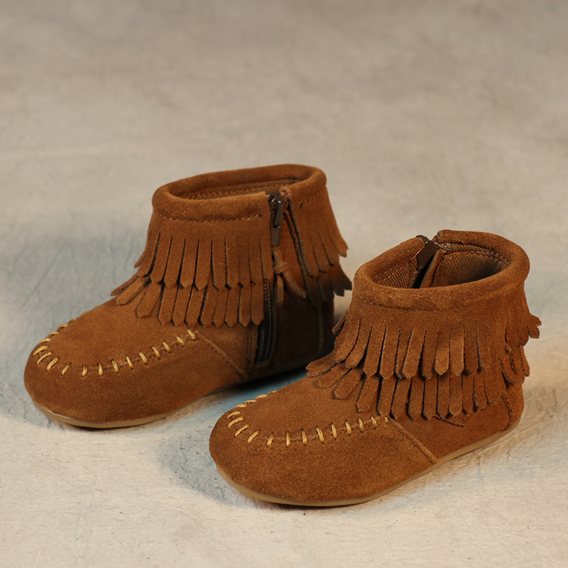Hot sale kids boots girls boots fashion tassel toddler girl boots kids comfortable leather kids boots girls shoes ...