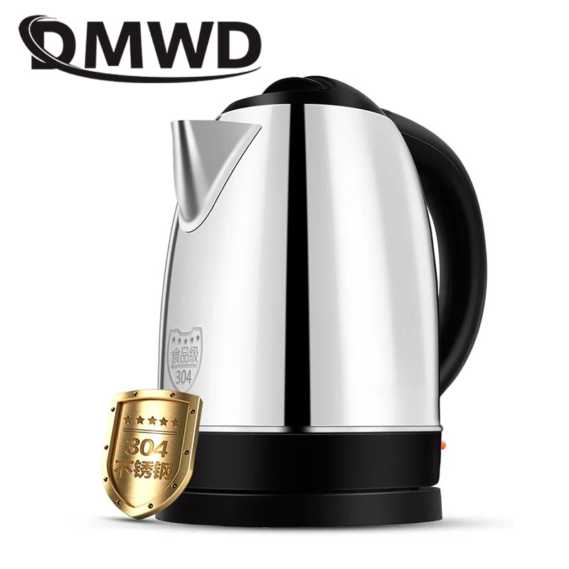 все цены на DMWD 1.7L Split Style Electric Kettle Stainless Steel Pot Auto Power Off Quick Hot Water Heating Boiler Heater Teapot EU US plug онлайн