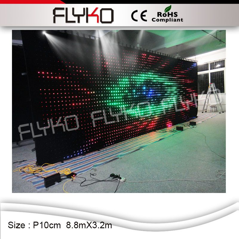Flyko hot new products for 2016 led video curtain play full sexy movies