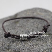 LOW0109LB новые модные ювелирные изделия Ретро AliExpress DIY дружба* рок стиль кожаный браслет регулируемый подарок