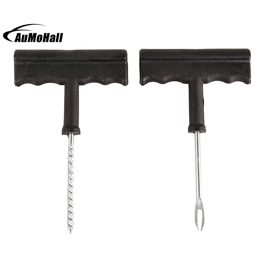 Auto Car Tubeless Tire Puncture Plug Repair Sealant Cement Fix Needle kit