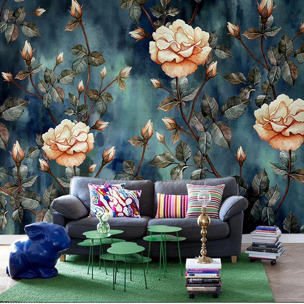 European Bedroom Wallpaper 3d Large Size Photo Mural For