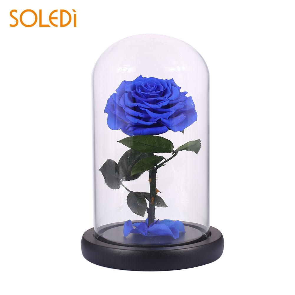 Glitter Beautiful Preserved Fresh Flowers Eternal Rose Flower Floral Decor Fresh Flowers PINK BLUE Red Purple