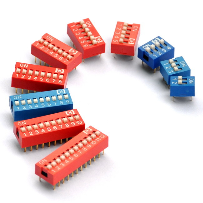 2 To 12 Way PCB Mountable DIP Switches Assorted Kit.
