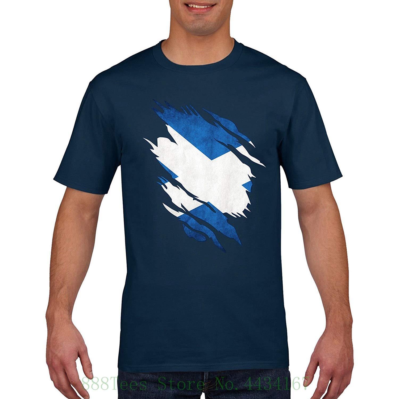 Scotland Rugger T Shirt Scottish Torn Shirt Design 6 Nations