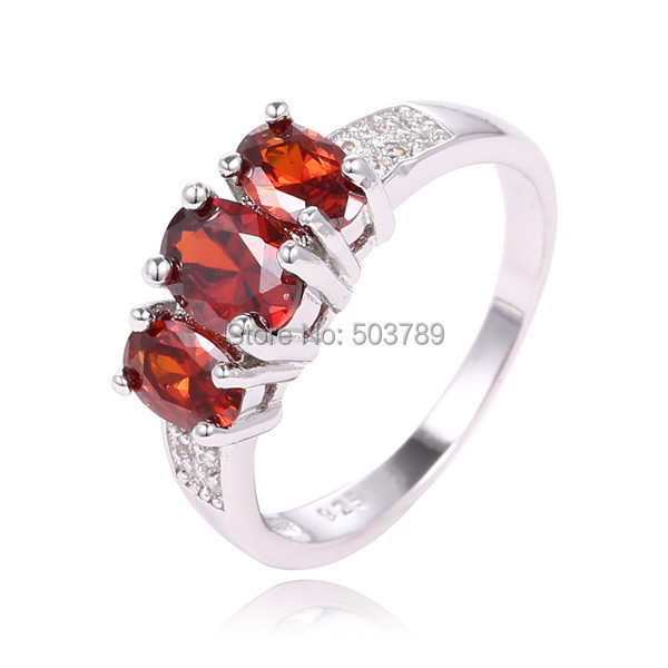 shuangr fashion 1pc red crystal alluring beautiful ring for women wedding party jewelry size 7 8 - Beautiful Wedding Ring