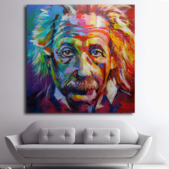 Albert Einstein Art Canvas Print POP ART Giclee Poster