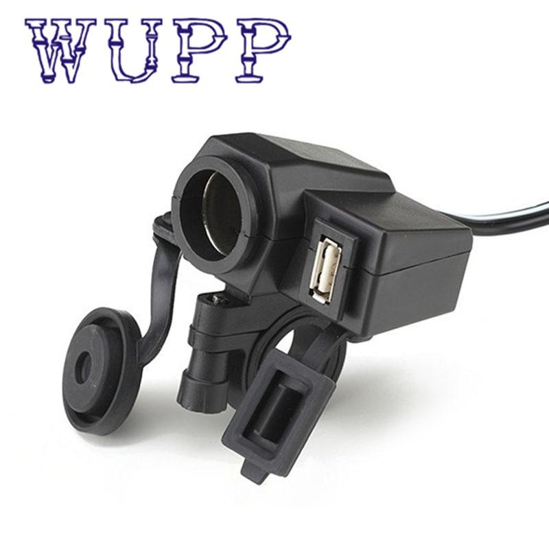 Hot car stying 2 1A Weatherproof Motorcycle USB Cell phone GPS Cigarette Lighter Charger carregador cargador