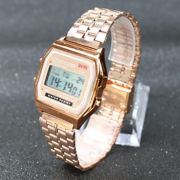 Vintage Stainless Steel Digital Alarm Stopwatch Wrist Watch 2