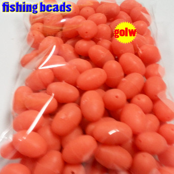 2018 fihsing plastic luminous fishing beads glow in the dark 2*3 3*4----12*16mm more size choose color is orange red