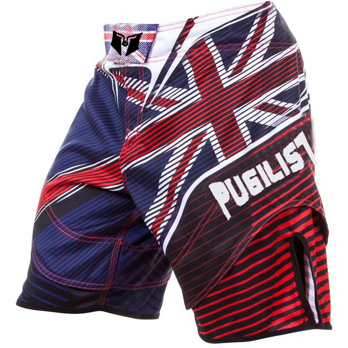 muay thai shorts MMA National flag hero fighting shorts fitness loose training Thai boxing shorts kick