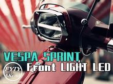 Luz delantera LED para Piaggio Vespa Sprint 150 montaje de luz trasera